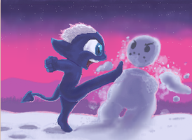 Tired of snow by JamieTheImp