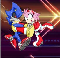 Amy vs Metal Sonic by SMSSkullLeader
