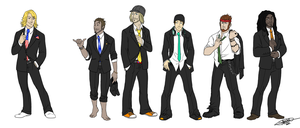 SSX Boys in Suits by tsukinoyagami