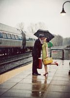 Love at the train station by The-optimist