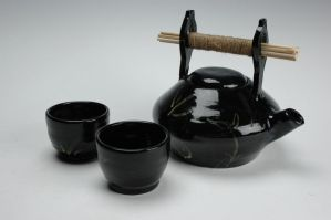 Bamboo Handle Teaset by art-as-air