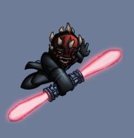 chibi darth maul colored by shalomone