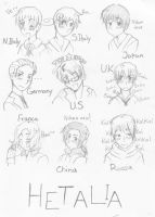 Hetalia Sketches by Tomatobox-Fairy