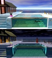 Pool - Day and Night by JohnMo