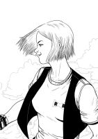Android 18 by Phleitodactilo