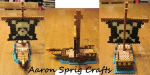 Perler Pirate Ship by aaron-sprig