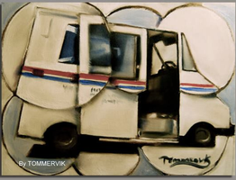 abstract mail truck paiting by TOMMERVIK