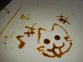 drawing with sweet soy sauce by tehKOTAK