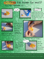 How to Fix your Squashed Kanzashi: silk forming. by hanatsukuri