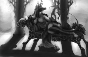 Queen of Snakes and Roses WIP by T0xicEye