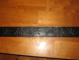 Guitar Strap-good and evil by FattDaddyLeather