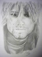 Latest drawing - Kurt Cobain by trixy-bernadotte