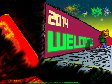 He did not take the bag, Happy 2014 by Lobhotigre