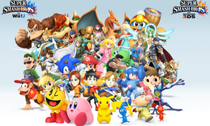 Super Smash Bros. Wii U/3DS Group Wallpaper v12 by CrossoverGamer