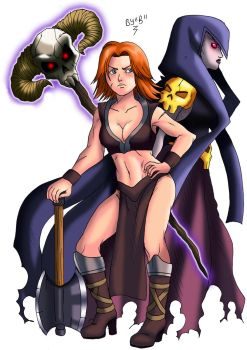 Valkyrie and Witch From Clash of Clans ( Royale ) by Brunohatake3