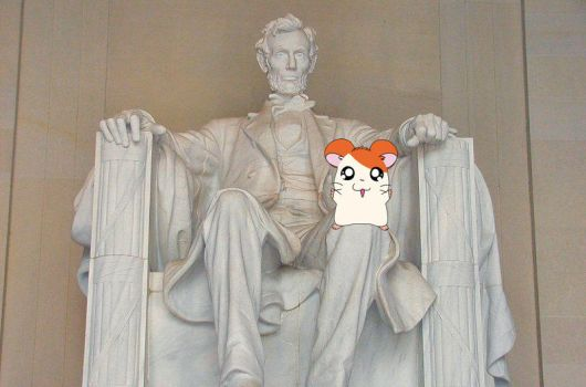 Hamtaro with Lincoln by henryt93