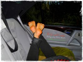 Barefeet in the Car IV by talpimado