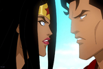 Wonder Woman Superman Gif by roysartwork