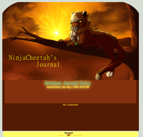 NinjaCheetah Journal commission by Wolfvids