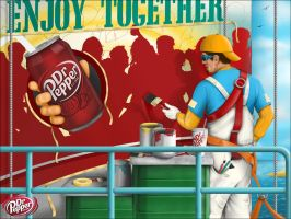 Dr. Pepper Mural Painter Sign by reyjdesigns