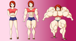 Commission - Redhead Growth Sequence by FudgeX02