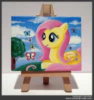 Fluttershy (Mini Canvas) by Onyrica
