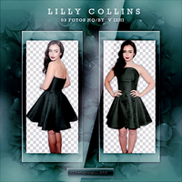 +Photopack Png Lilly Collins by AHTZIRIDIRECTIONER