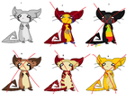 Adoptable batch 2 by Kittyfluffehs-adopts