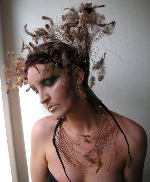 Stock - Mother of birds .. feather crown by S-T-A-R-gazer