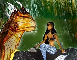 Draco and Amphitrite by Selinelle