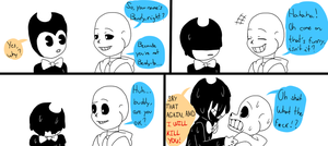 If Sans meets Bendy by Barbarathebunny