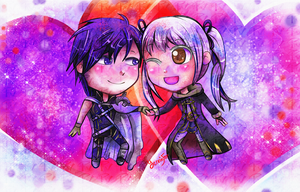 Chrom and Robin Chibi Commission by FaithWalkers