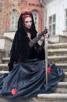 Vampiress With Sword II by ann-emerald-stock