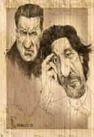 Al Pacino and Robert Deniro by maritze