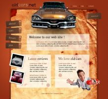 cars layout psd html FREE :4 by 14koles14