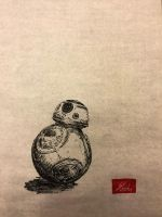 BB-8 - Japanese traditional brush pen and paper by DefMart