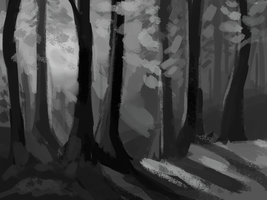 forest: speedpaint 2 by Magicpawed