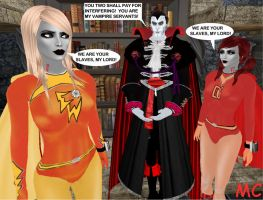 Electra Woman And Dyna Girl Meet The Vampire by The-Mind-Controller