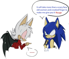 Rouge and Sonic 30 years later concept by rouge2t7