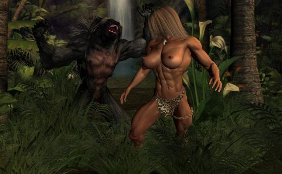 Savage Girl - Jungle Monster by plinius