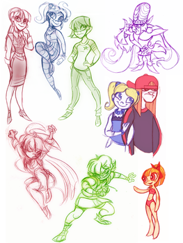 Powerpuff Girls Doodledump-8 by Busterella