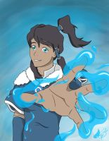 The Legend of Korra Waterbending by KatieBrownie