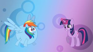 Twilight and Rainbow Dash Wallpaper (1920 X 1080) by PyroPig75