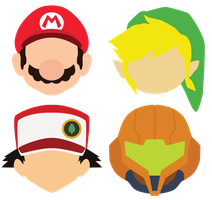 Nintendo Heads by molefole