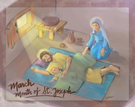 For the Month of March - St. Joseph by artelizdesouza