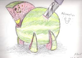 Melon becomes alive by Pialex91