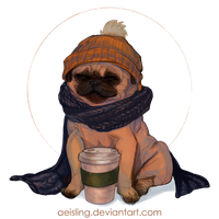 Puggy the pug by aeisling