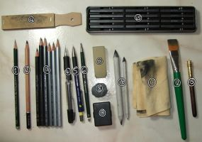 Graphite tools of the trade by moniquepetportraits