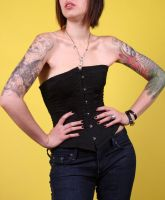 black cotton corset by opioid