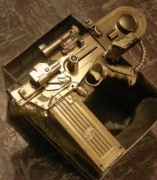 Steampunk Anti-Tank Pistol WIP 2 by LandgraveCustoms
